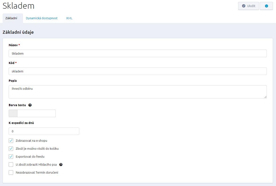20b9ad8690d Novou položku v číselníku skladové dostupnosti vytvoříte stisknutím  tlačítka