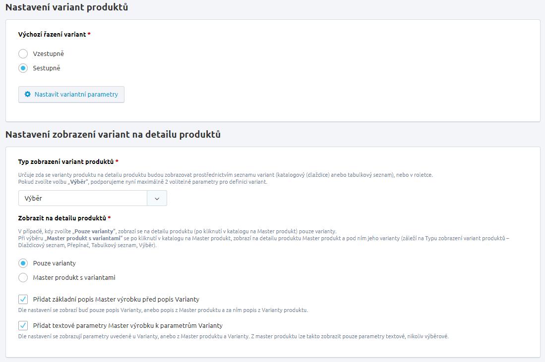 d7ade0935aedd Základní nastavení produktů | FastCentrik